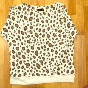 JCrew leopard print sweatshirt